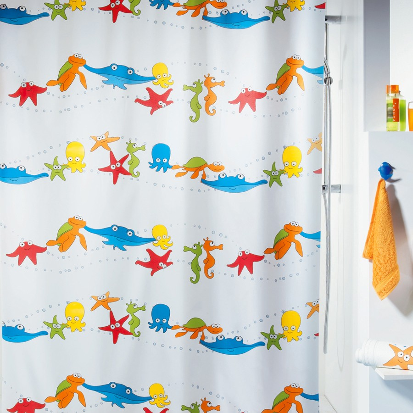duschvorhang spirella aquarium textil. Black Bedroom Furniture Sets. Home Design Ideas