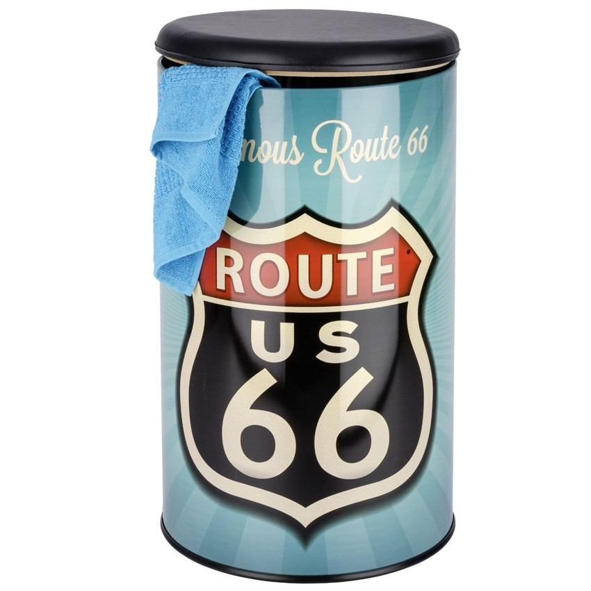 sitz und w schetruhe wenko vintage route 66. Black Bedroom Furniture Sets. Home Design Ideas