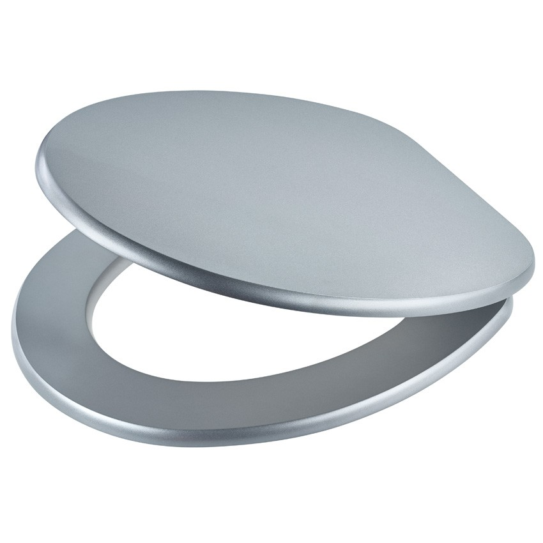 wc sitz diaqua madrid mit absenkautomatik silber. Black Bedroom Furniture Sets. Home Design Ideas