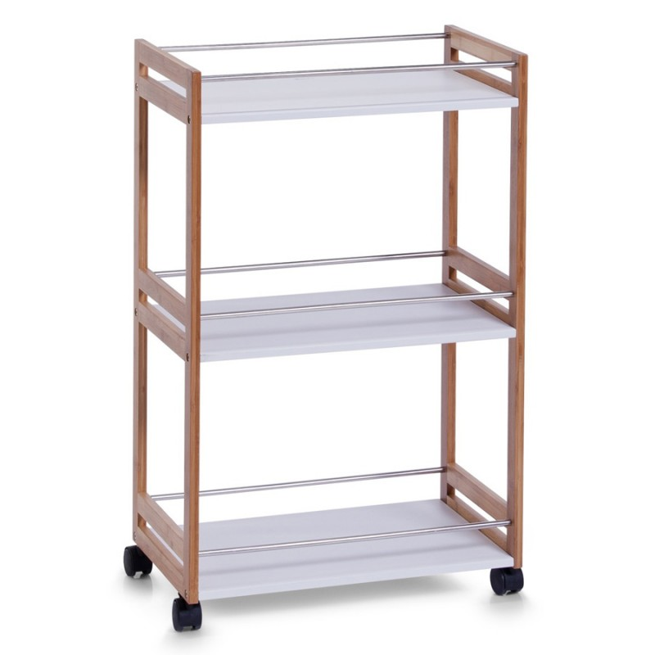 fehr badshop bad rollwagen zeller present aus bambus mdf. Black Bedroom Furniture Sets. Home Design Ideas