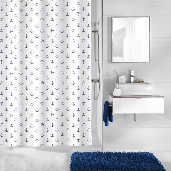 fehr badshop duschvorhang kleine wolke anchor textil. Black Bedroom Furniture Sets. Home Design Ideas