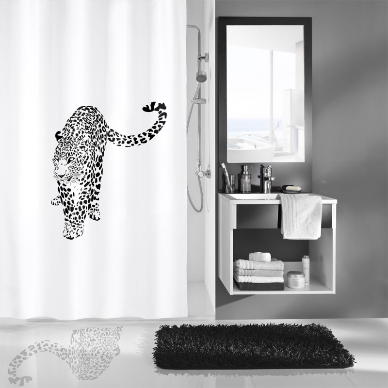 fehr badshop duschvorhang kleine wolke wildcat textil. Black Bedroom Furniture Sets. Home Design Ideas