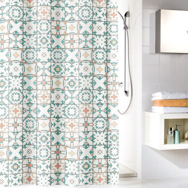 fehr badshop duschvorhang kleine wolke ida textil. Black Bedroom Furniture Sets. Home Design Ideas