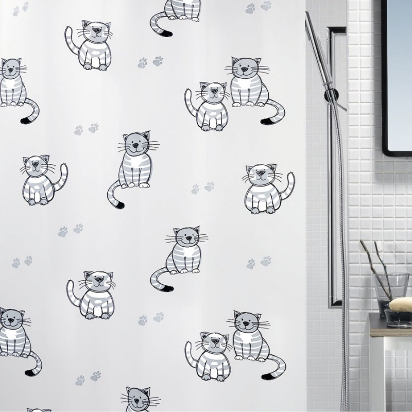 fehr badshop duschvorhang spirella gary plastic eco pvc. Black Bedroom Furniture Sets. Home Design Ideas