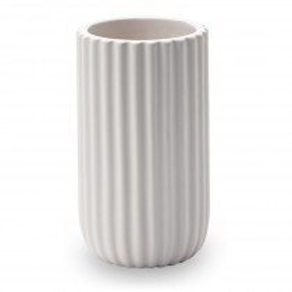 Mundspülbecher Aquanova Ribba aus Keramik, white