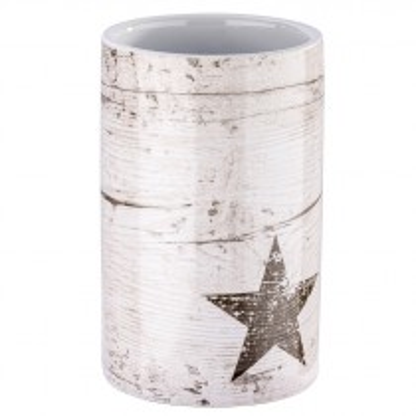 Mundspülbecher Wenko Star aus Keramik