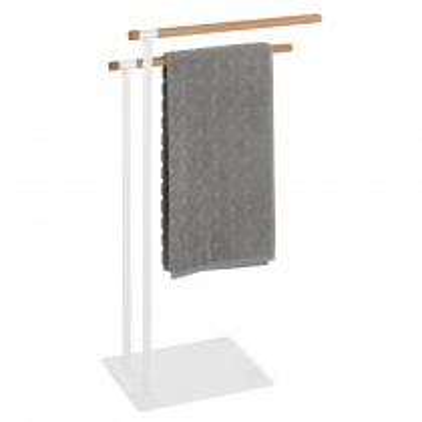 Handtuch- und Kleiderständer Wenko Macao aus Stahl & Holz