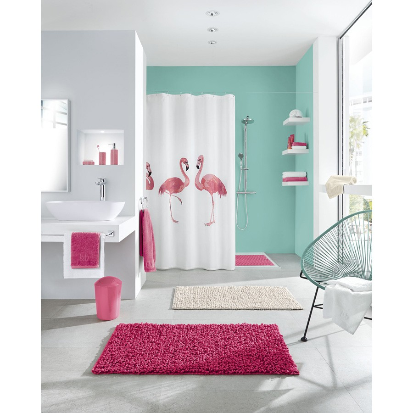 fehr badshop duschvorhang kleine wolke flamingo textil. Black Bedroom Furniture Sets. Home Design Ideas