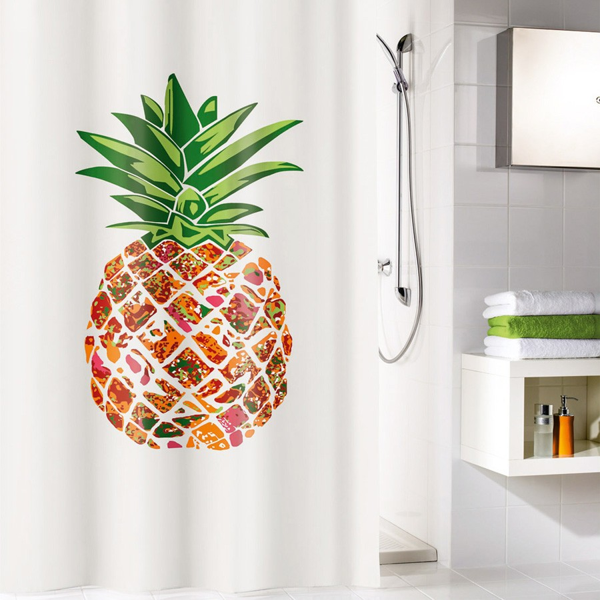 fehr badshop duschvorhang kleine wolke pineapple textil. Black Bedroom Furniture Sets. Home Design Ideas