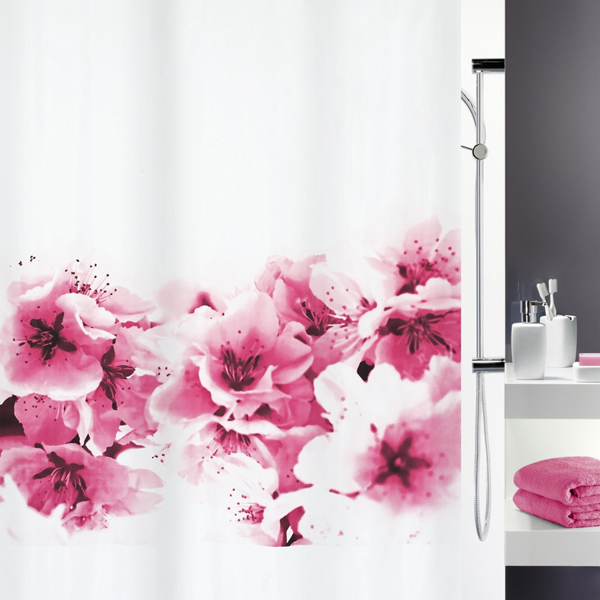 fehr badshop duschvorhang spirella amanda textil. Black Bedroom Furniture Sets. Home Design Ideas