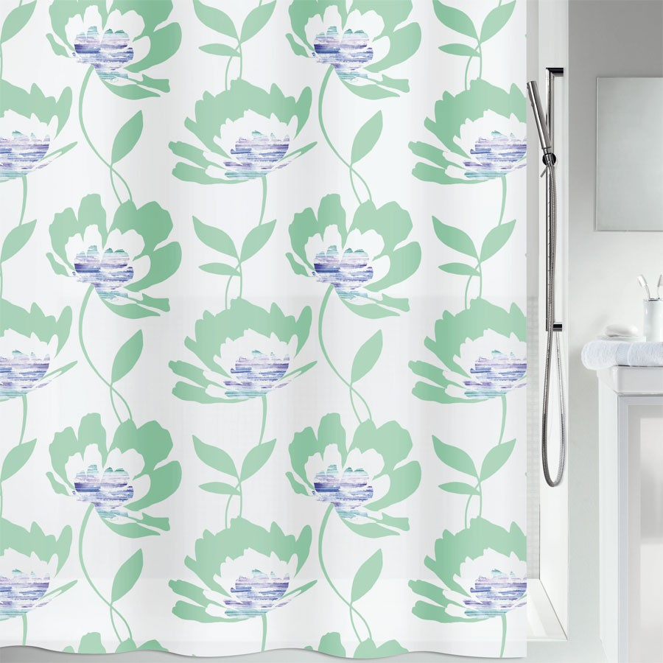 fehr badshop duschvorhang spirella blossom plastic. Black Bedroom Furniture Sets. Home Design Ideas
