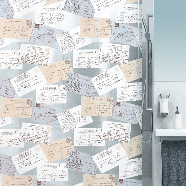 fehr badshop duschvorhang spirella carta plastic. Black Bedroom Furniture Sets. Home Design Ideas