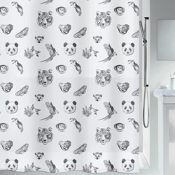 fehr badshop duschvorhang spirella kuapa plastic. Black Bedroom Furniture Sets. Home Design Ideas