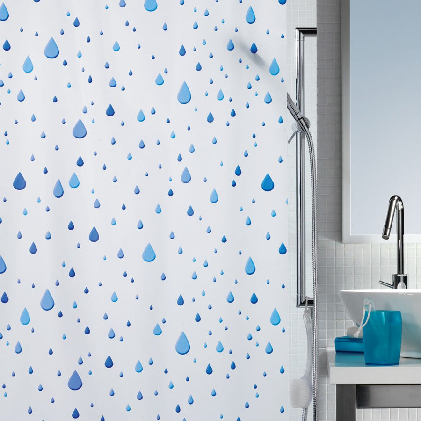 fehr badshop duschvorhang spirella waterdrop plastic. Black Bedroom Furniture Sets. Home Design Ideas