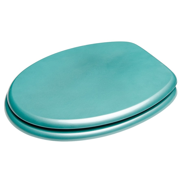 fehr badshop wc sitz sanilo glitzer t rkis aus holzfaserplatten mdf mit absenkautomatik. Black Bedroom Furniture Sets. Home Design Ideas